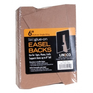 "Lineco® 6"" Glue-On Easel Backs; Color: Brown; Quantity: 100-Pack; Size: 6""; Type: Easel Backs; (model L328-1306S), price per 100-Pack"