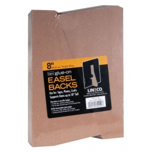 "Lineco® 8"" Glue-On Easel Backs; Color: Brown; Quantity: 100-Pack; Size: 8""; Type: Easel Backs; (model L328-1308S), price per 100-Pack"