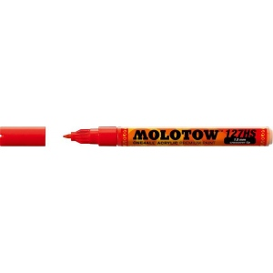 MOLOTOW™ 1.5mm Crossover Tip Acrylic Pump Marker Traffic Red (013): Red/Pink, Paint, Refillable, 1.5mm, Fine Nib, Paint Marker, (model M127402), price per each