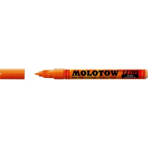 MOLOTOW™ 1.5mm Crossover Tip Acrylic Pump Marker Dare Orange (085): Orange, Paint, Refillable, 1.5mm, Fine Nib, Paint Marker, (model M127403), price per each