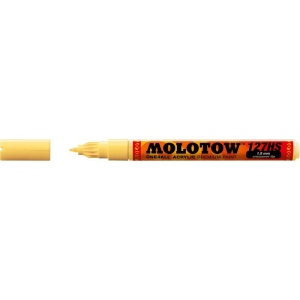 MOLOTOW™ 1.5mm Crossover Tip Acrylic Pump Marker Vanilla Pastel (115); Color: White/Ivory; Ink Type: Paint; Refillable: Yes; Tip Size: 1.5mm; Tip Type: Fine Nib; Type: Paint Marker; (model M127413), price per each