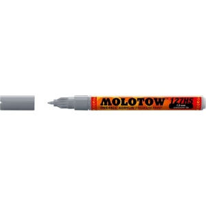 MOLOTOW™ 1.5mm Crossover Tip Acrylic Pump Marker Cool Gray Pastel (203); Color: Black/Gray; Ink Type: Paint; Refillable: Yes; Tip Size: 1.5mm; Tip Type: Fine Nib; Type: Paint Marker; (model M127418), price per each