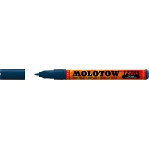 MOLOTOW™ 1.5mm Crossover Tip Acrylic Pump Marker Petrol (027); Color: Black/Gray; Ink Type: Paint; Refillable: Yes; Tip Size: 1.5mm; Tip Type: Fine Nib; Type: Paint Marker; (model M127419), price per each