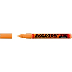 MOLOTOW™ 1.5mm Crossover Tip Acrylic Pump Marker Neon Orange Fluorescent (218); Color: Orange; Ink Type: Paint; Refillable: Yes; Tip Size: 1.5mm; Tip Type: Fine Nib; Type: Paint Marker; (model M127430), price per each