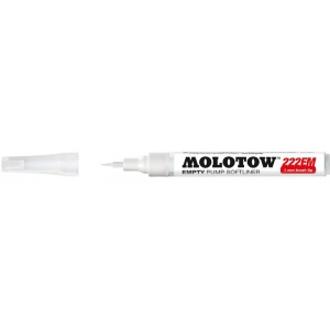 MOLOTOW™ Empty Brush Marker: Refillable, Brush Nib, Paint Marker, (model M211011), price per each