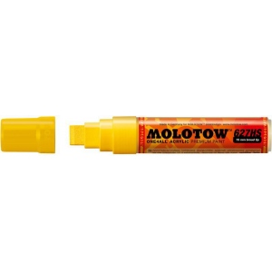 MOLOTOW™ 15mm Wide Tip Acrylic Pump Marker Zinc Yellow; Color: Yellow; Ink Type: Paint; Refillable: Yes; Tip Size: 15mm; Type: Paint Marker; (model M627201), price per each