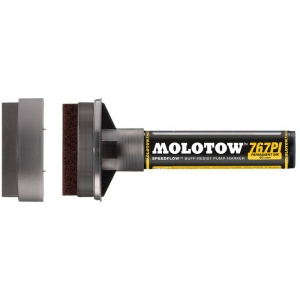 MOLOTOW™ 60mm Masterpiece Tip Pump Marker; Color: Black/Gray; Refillable: Yes; Tip Size: 60mm; Type: Paint Marker; (model M767000), price per each