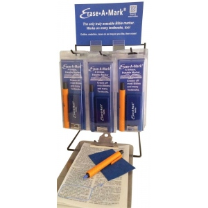 Erase-A-Mark® Book & Bible Marking Set Display; Color: Multi; Format: Clamshell; Type: Marking; (model MARK89D), price per each