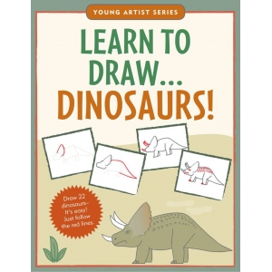 Peter Pauper Press Learn To Draw… Dinosaurs Book: Book, Drawing, (model PP2780), price per each