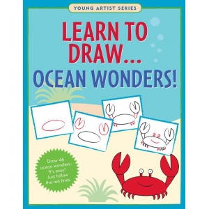 Peter Pauper Press Learn To Draw… Ocean Wonders Book: Book, Drawing, (model PP6042), price per each