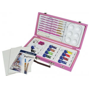 Royal & Langnickel® Pink Art Beginner Acrylic Painting Set; Type: Acrylic, Children's Art Kit; (model RSET-PAACR3000), price per set