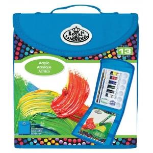 Royal & Langnickel® Keep N' Carry™ Acrylic Painting Set; Type: Acrylic, Children's Art Kit; (model RTN-167), price per set