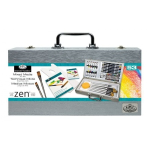 Royal & Langnickel® Zen Wooden Box Mixed Media Art Set; Type: Art Kit; (model RZEN-MMS7301), price per set