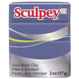 Sculpey® III Polymer Clay Gentle Plum; Color: Purple; Format: Bar; Material: Polymer; Size: 2 oz; (model S302355), price per each