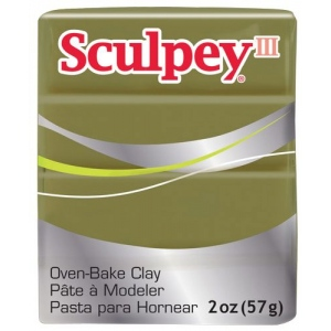 Sculpey® III Polymer Clay Camouflage; Color: Green; Format: Bar; Material: Polymer; Size: 2 oz; (model S302360), price per each