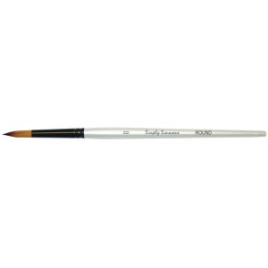 Daler-Rowney Simply Simmons Synthetic Acrylic/Multimedia Brush Round 8: Short Handle, Bristle, Round, Acrylic, Multimedia, (model SS255085008), price per each