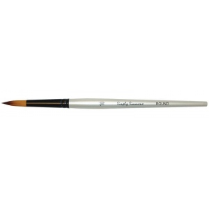 Daler-Rowney Simply Simmons Synthetic Acrylic/Multimedia Brush Round 10: Short Handle, Bristle, Round, Acrylic, Multimedia, (model SS255085010), price per each