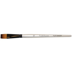 Daler-Rowney Simply Simmons Synthetic Acrylic/Multimedia Brush Flat Shader 16: Short Handle, Bristle, Flat Shader, Acrylic, Multimedia, (model SS255060016), price per each