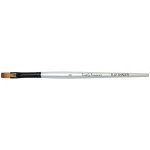 Daler-Rowney Simply Simmons Synthetic Acrylic/Multimedia Brush Flat Shader 8: Short Handle, Bristle, Flat Shader, Acrylic, Multimedia, (model SS255060008), price per each