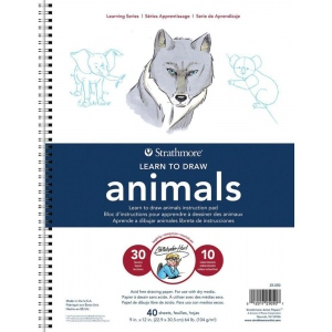 "Strathmore® 200 Series Learning Series Pad Learn Animals: Book, 40 Pages, 9"" x 12"", (model ST25-050), price per pad"