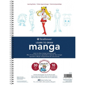 "Strathmore® 200 Series Learning Series Pad Learn Manga; Format: Book; Page Count: 40 Pages; Size: 9"" x 12""; (model ST25-051), price per pad"