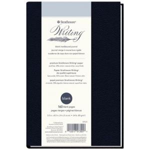 "Strathmore® Writing Series 5 1/2"" x 8 1/2"" Blank Hardbound Journal: Sewn Bound, Blue, Journal, 80 Sheets, 5 1/2"" x 8 1/2"", Writing, (model ST573-5), price per each"