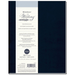 """Strathmore® Writing Series 7 3/4"""" x 9 3/4"""" Lined Softcover Journal: Sewn Bound, Blue, Journal, 64 Sheets, 7 3/4"""" x 9 3/4"""", Writing, 24 lb, (model ST574-81), price per each"""