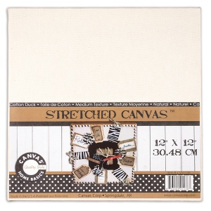 "Canvas Corp Stretched Natural Canvas: 12"" x 12"""