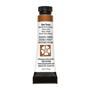 Daniel Smith Extra Fine™ Watercolor 5ml Raw Sienna - Color: Red/Pink; Format: Tube; Size: 5 ml; Type: Watercolor; (model 284610096), price per tube