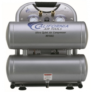 California Air Tools 4610AC Air Compressor: 1.0 HP, 4.6 Gal. Aluminum Tank, Ultra Quiet, Oil-Free, Lightweight