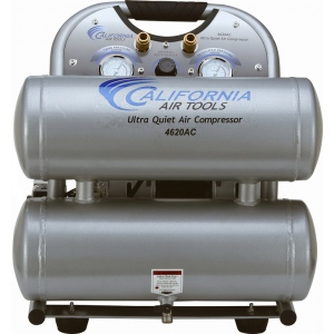 California Air Tools 4620AC Air Compressor: 2.0 HP, 4.6 Gal. Aluminum Tank, Ultra Quiet, Oil-Free