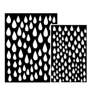 Ranger - Dyan Reaveley - Dylusions - Stencils - Raindrops Small
