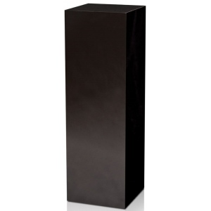 "Xylem High Gloss Black Acrylic Pedestal: 11.5"" x 11.5"" Base, 18"" Height"