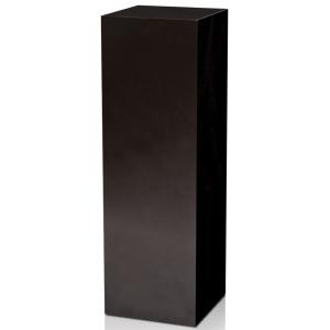 "Xylem High Gloss Black Acrylic Pedestal: Size 18"" x 18"", Height 12"""
