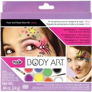 Tulip Body Art Paint Kits: Neon, 8 Colors