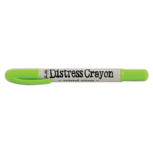 Ranger - Tim Holtz - Distress - Crayons - Open Stock - Twisted Citron