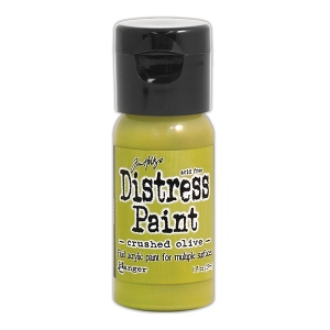 Ranger - Tim Holtz - Distress Paint Flip Cap - Crushed Olive 1 oz