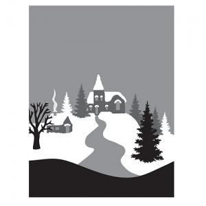 Spellbinders  - 3D Shading Stamps -  Winter Village Stamps