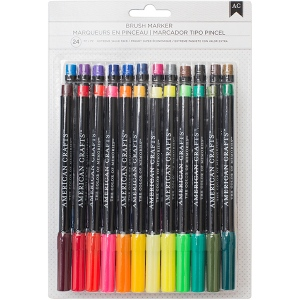 American Crafts - Brush Markers - 24 Pack Assorted