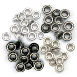 We R Memory Keepers - Eyelets - Standard - 60 Pack Cool Metal