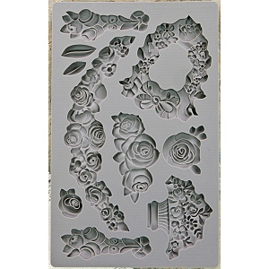 Prima - Iron Orchid Designs - Vintage Art Decor Mould - 5inX8in - Fleur