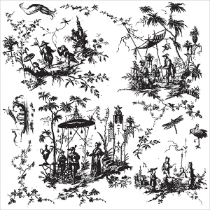 Prima - Iron Orchid Designs - Decor Clear Stamps - 12x12 - Toilechinoiserie