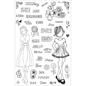 Prima - Julie Nutting Planner -  Clear Stamps 4x6 - Make Kindness Happen