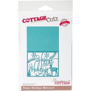 CottageCutz - Elites Die - Merry Christmas Notecard - 5.5inX3.5in Fold