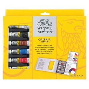 Winsor & Newton™ Galeria™ Acrylic Tips and Techniques Set: Acrylic, (model 7021539), price per set