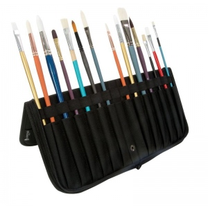 "Heritage Arts™ 13 3/4"" Brush Holder: 14 Brushes, Black/Gray, Nylon, Brush and Tool Holder, (model BCB-L), price per each"