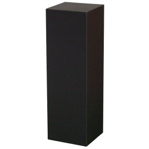 "Xylem Black Laminate Pedestal: Small & Tabletop Sized, 17"" Height"