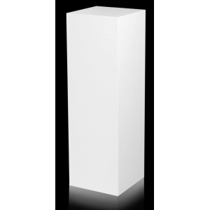 "Xylem White Laminate Pedestal: Small & Tabletop Sized, 17"" Height"