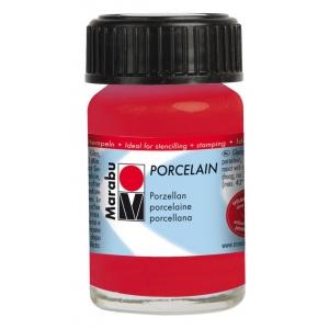 Marabu Porcelain Paint Cherry 15ml: Red/Pink, Jar, 15 ml, Porcelain, (model M11059039125), price per each