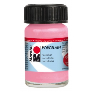 Marabu Porcelain Paint Rose Pink 15ml: Red/Pink, Jar, 15 ml, Porcelain, (model M11059039133), price per each